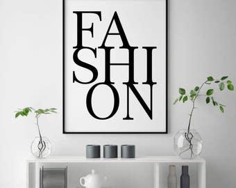 Fashion Wall Decor fashion wall decor | etsy