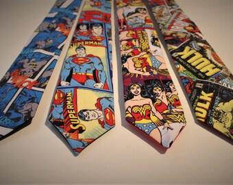 Comic Book Themed Handmade Neckties