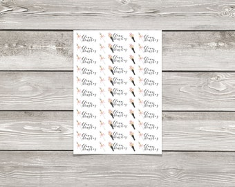 Clean Make-Up Brushes Functional Planner Stickers for Erin Condren Life Planner & The Happy Planner