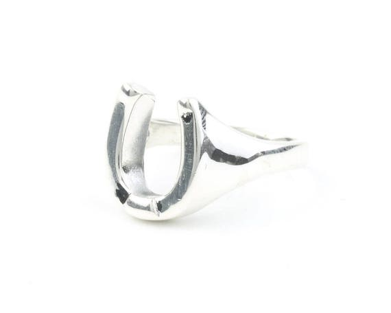 Sterling Silver Horeshoe Ring, Good Luck, Horse, Cowboy, Boho, Bohemian, Gypsy, Festival Jewelry, Western