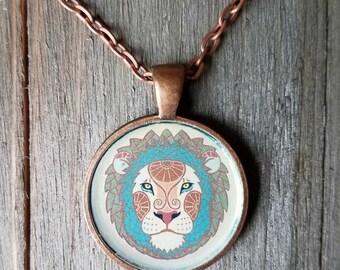 Leo Pendant Necklace - Leo Jewelry - The Lion Zodiac - Zodiac Necklace - Zodiac Pendant - Zodiac Jewelry - Stocking Stuffer -  Lion Necklace
