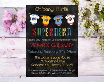 superhero baby shower invitation superhero baby shower invite superhero theme baby shower baby shower mom to be super baby chalkboard