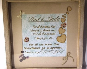 Personalised Thank you Love frame