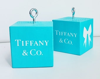 Wooden weights for balloons. Tiffany Party Decorations