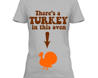 Maternity Thanksgiving Shirt, Maternity Holiday Shirts, Thanksgiving New Baby Announcement, Holiday Pregnancy Shirt, Turkey Pregnancy Shirt