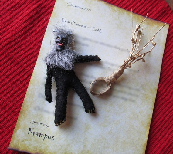 Krampus - A Letter From Krampus & Unique Handmade Doll Gift Pack