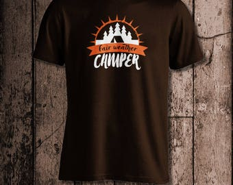 Fair weather Camper | Men's tee | Outdoor living