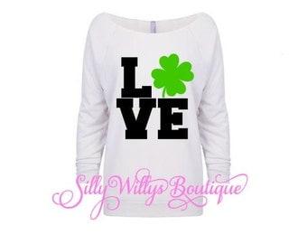 St. Patrick's Day shirt, Four leaf clover shirt, Saint Patrick's Day shirt, 4 leaf clover shirt, Lucky shirt, Love four leaf clover shirt