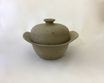 Pottery, No Knead Bread Baking Pot, Stoneware, Practical Pottery, Unglazed