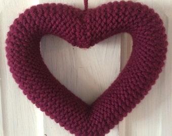 Knitted Heart Purple