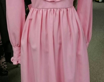 Vintage 1960's Ruffled Maxi Dress