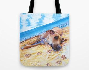 Dog Tote Bag, Dog Beach Bag, Dog Gym Bag, Dog Diaper Bag, Craft Bag or School Bag