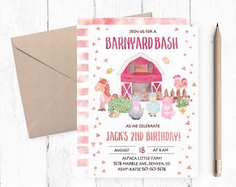 Barnyard Birthday Invitation, Barnyard Birthday, Barnyard Invitations, Barnyard Birthday Party, Barnyard Invites, Barnyard Invite, Digital,