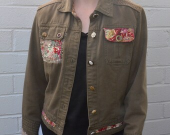 Upcycled women's jacket, size small