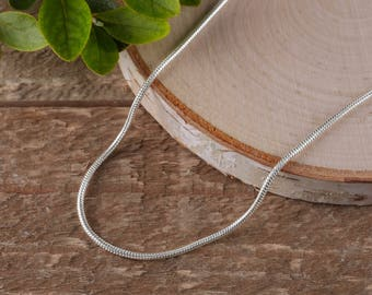 "24"" Silver Chain Necklace - Silver Plated Chain, Silver Snake Chain Necklace, Silver Necklace Chain, Jewelry Making, Snake Necklace E0458"