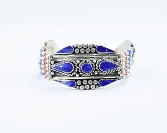 Tibetan lapis lazuli bracelet Bangle style bracelet boho, Bohemian ethnic