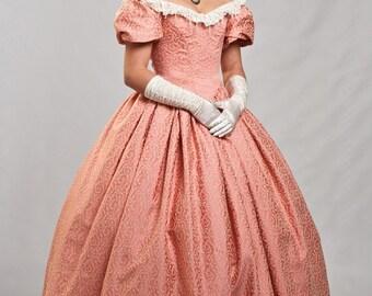 Victorian ball gown, Victorian Ballroom dress, Victorian dress, Biedermeier dress, Victorian gown