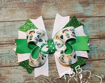 Girl Scout Bow, Brownies Bow, Cookie Bow, Girl Scouts Uniform, Girl Scouts Theme, Stacked Bow