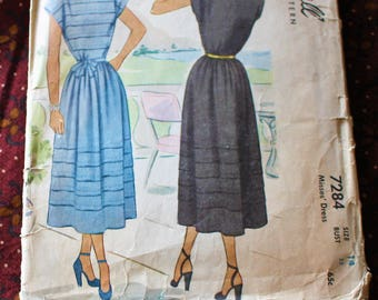 1940's Original Sewing Pattern, Dress, Bust 32""