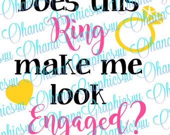 Does this Ring make me look Engaged? w/ Ring and Heart SVG