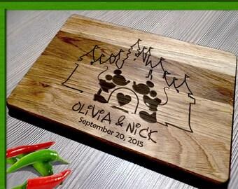 Cutting Board Wedding Gift / Cutting Board disney weddin / disney wedding gift / Mickey mouse cutting board / disney wedding Cutting Board