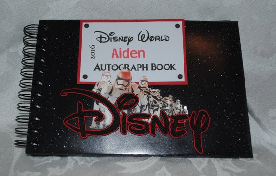 Personalized Disney Star Wars Autograph And Photo Book
