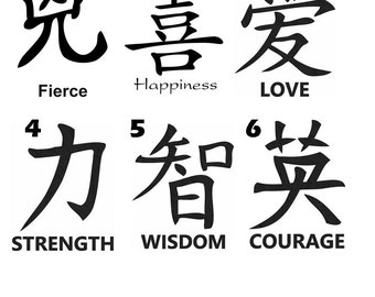 100 strength chinese symbol with a good woman child