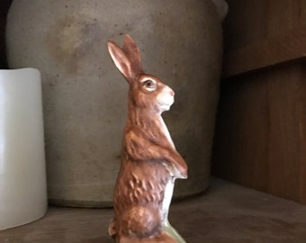 """Primitive Chalkware Rabbit standing 4"""""""