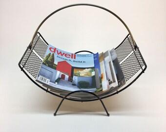 Atomic metal magazine rack | log holder