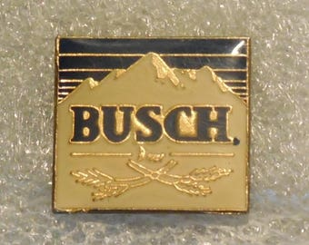 True Vintage BUSCH Beer Lapel Pin, Enamel Pin, Pinback, Bartender Pin, Budweiser, Bud Light, Coors, 80s