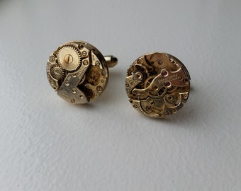 Steampunk Clockworks Cuff Links