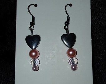 Sweet Hearts of Silver with pink accents.