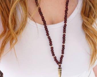 Bronze Bullet Necklace