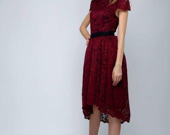Lace dress (black, beige,burgundy,pale pink,fuchsia)