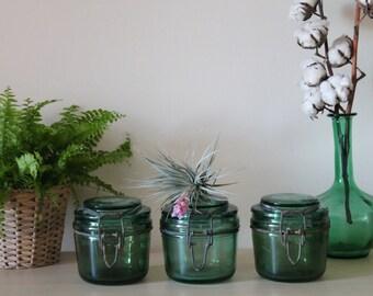 Old food glass jars