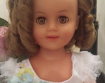 Shirley Temple Doll From 1950's/ideal doll/vintage doll/gifts for girls/toy dolls/collectable doll/shirley temple