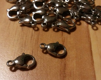 12MM steel stainless lobster clasps
