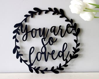 you are so loved sign // wood nursery Sign // Home Decor//gather Decor// Rustic Wood Sign// nursery decor// Wall Hanging // you are so loved