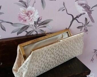 vintage clasp purse * gold purse * gold clutch bag * vintage bag * brides purse * bridesmaid purse * bridal accessory * evening bag *