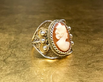 Filigree Ring | Victorian Gift Ring | Antique 1800s Ring | Size 5.5 Ring