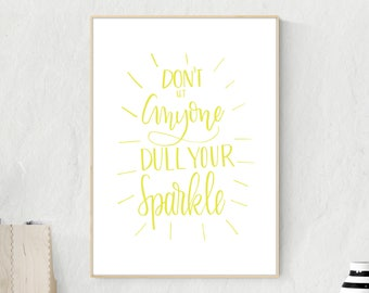 Coworker Gift - Graduation Gift - Inspirational Quote Office Art - Office Decor - New Job Gift - Desk Accessories - Cubicle Decor