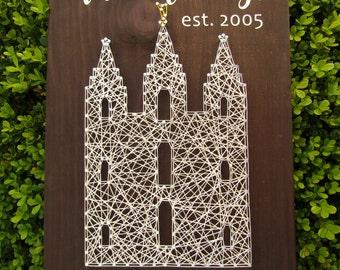 Salt Lake City Utah Temple String Art *Made-to-Order*