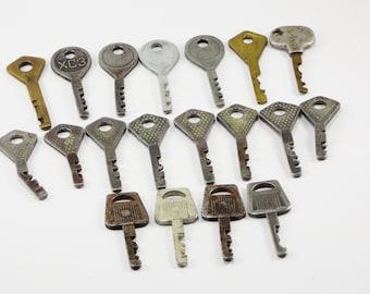 Antique brass skeleton keys Party keys primitive keys old house keys rustic keys for doors old keys vintage stamped key steampunk keys gifts