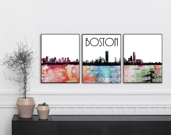Boston Wall Art boston wall decor | etsy