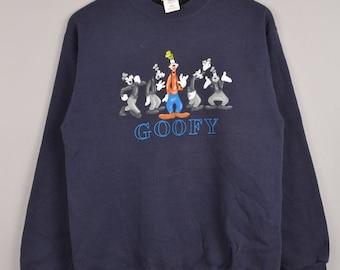 tienda Disney, goofy sudadera, camiseta mickey mouse, disney suéteres, ropa, tierra de disney, camiseta, cuello redondo de dibujos animados de disney