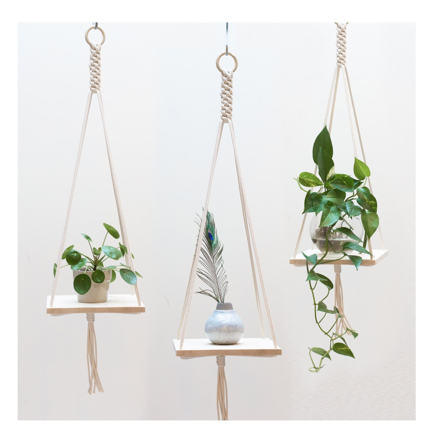 how to make a macrame plant holder macrame plant hanger macrame shelf hanging plant holder 1846