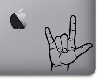 ASL I Love You Hand Vinyl Sticker, Vinyl Decal