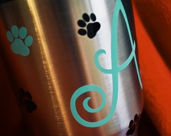 Paw Print Decal | Assorted Sizes | Dog Lover Decal | Yeti Decal | Laptop Decal | Ozark Trail Decal | Vinyl Decal | Permanent Decal | Glossy