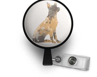 Beautiful German Shepherd Retractable ID Badge Reel