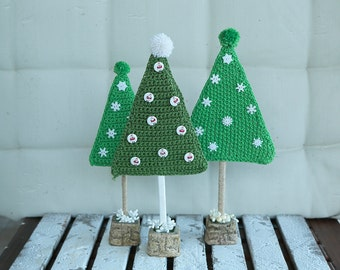 Knitted Xmas tree, price for 1 tree. Original decor for home, office, shop or gift for the New